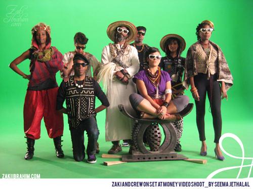 Zaki and crew on set at Money Video Shoot_by Seema Jethalal