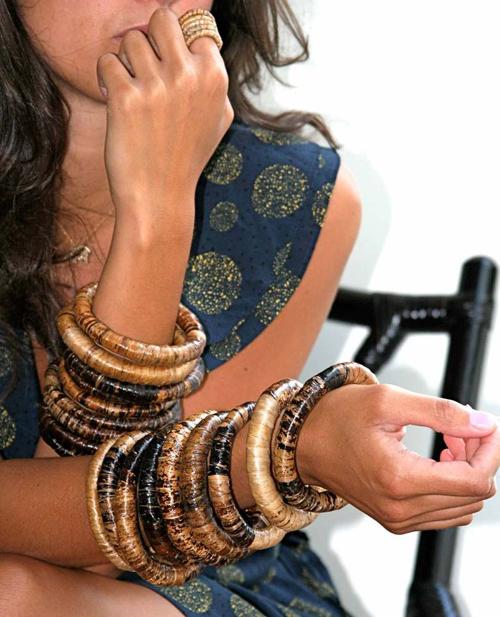 Model-w-bracelets