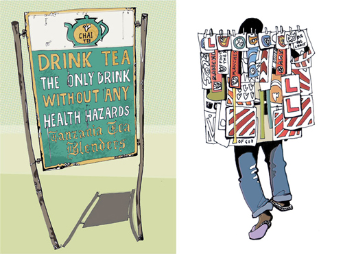 Tea-sign-and-sticker-vendors