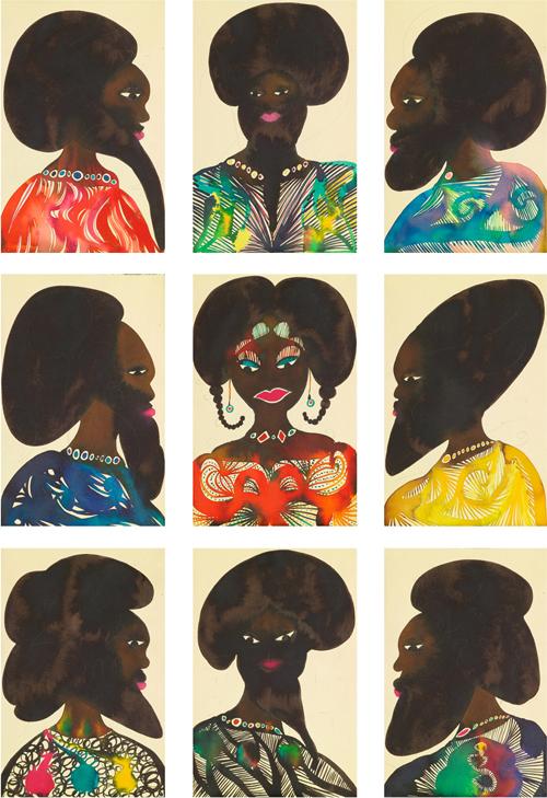 Chris-Ofili-Afro-Muses-Harem-2