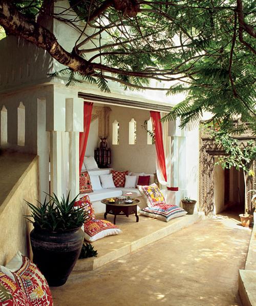 Poolside Alcove Lamu House