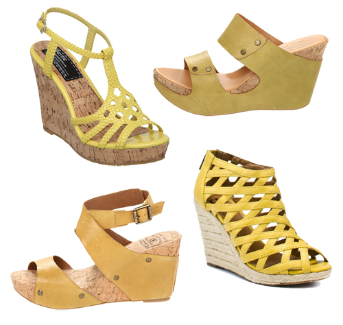 Yellow-Wedge-Shoes-Sandals