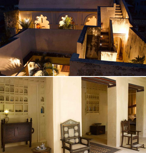 Baytil-Ajaib-Courtyard-and-Vidaka-Lamu-Kenya Interior Design