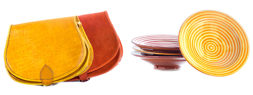 2-Beldi-Morocco-Design-Shop-on-Afri-love-Leather-Saddle-Bags-Spiral-Safi-Plates