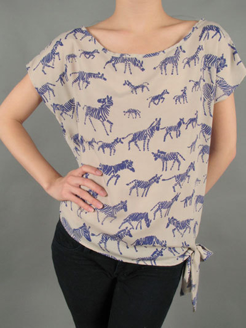 Blue-Zebra-Print-Top-Etsy-pauInkcdesigns