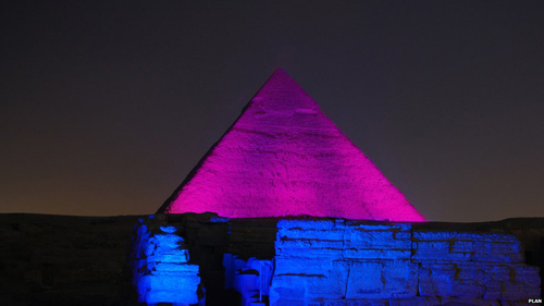 International Day of the Girl October 11 2012 Egypt Pyramids Pink