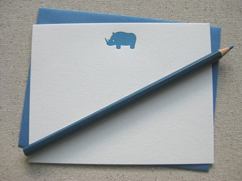Blue-Rhino-Letterpress-Notecard-PaperInkPress