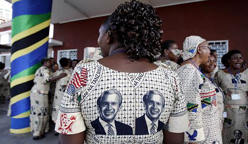 Political-propaganda-Vitenge-Tanzania-President-George-Bush