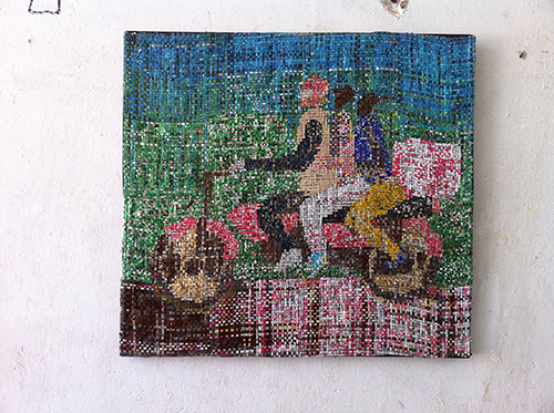 Dickens Otieno Kenya Art Recycled Aluminium Picture