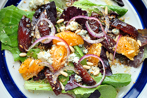 A-Sweet-Salad-of-Medjool-Dates-Oranges-and-Gorgonzola-Cheese