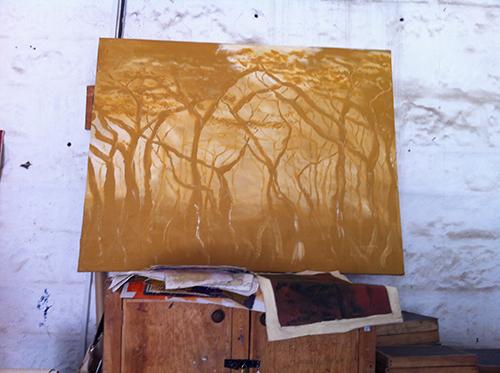 Caroline Mbirua Kenya Art Painting Landscape