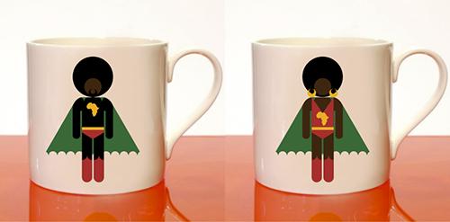Afro Supa Hero Mugs