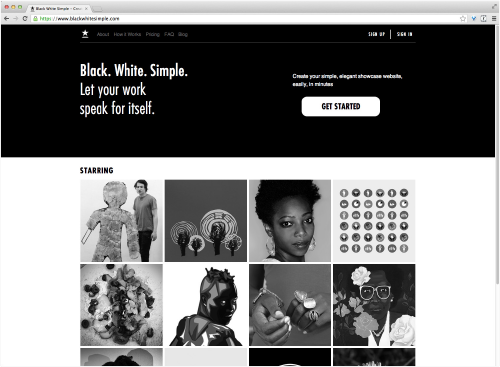 Black-White-Simple-Website