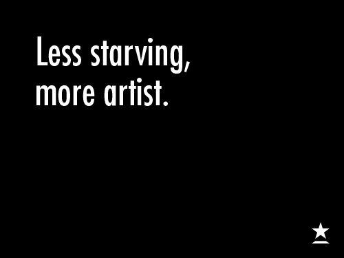 Less-Starving-More-Artist-Black-White-Simple