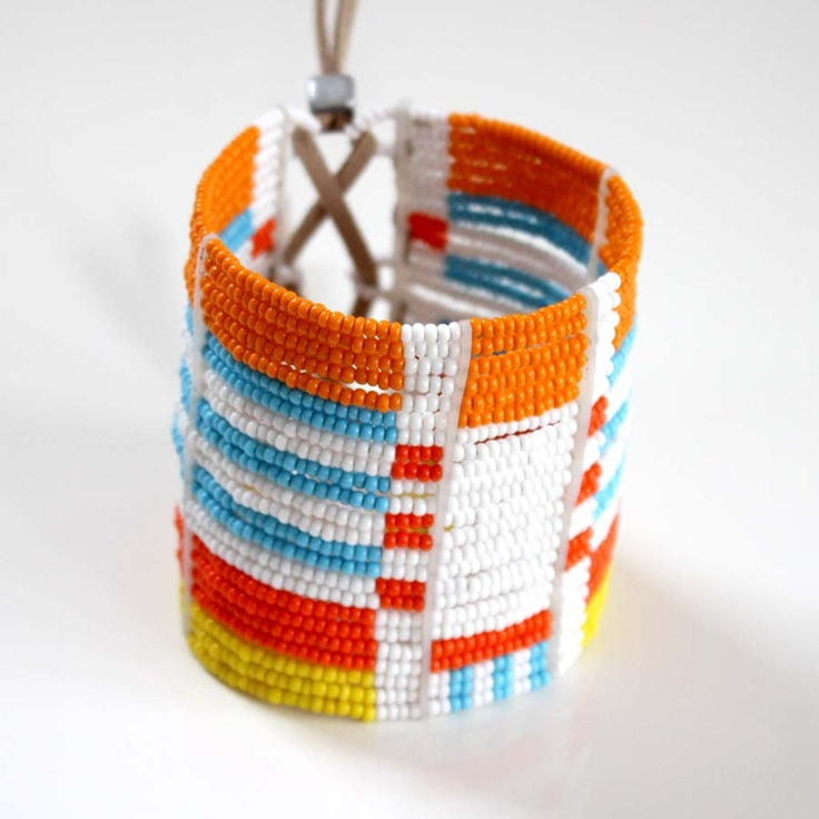 Sidai Designs Beaded Cuff Bracelet Maasai Inspired