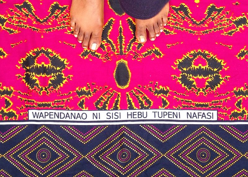 2-Kanga-Kitenge-Fabric-African-Textiles-Patterned-Sayings
