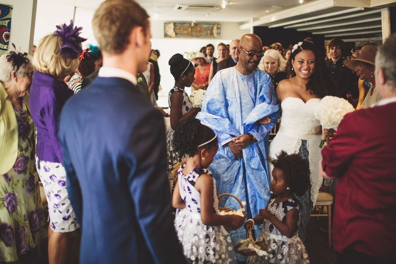 Zahra and Chris African Wedding Altar
