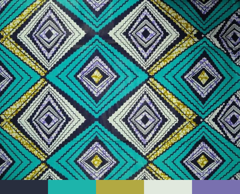 Colour-Palette-Ideas-Wax-Print-Turquoise-In-Technicolour-Diamond-Pattern