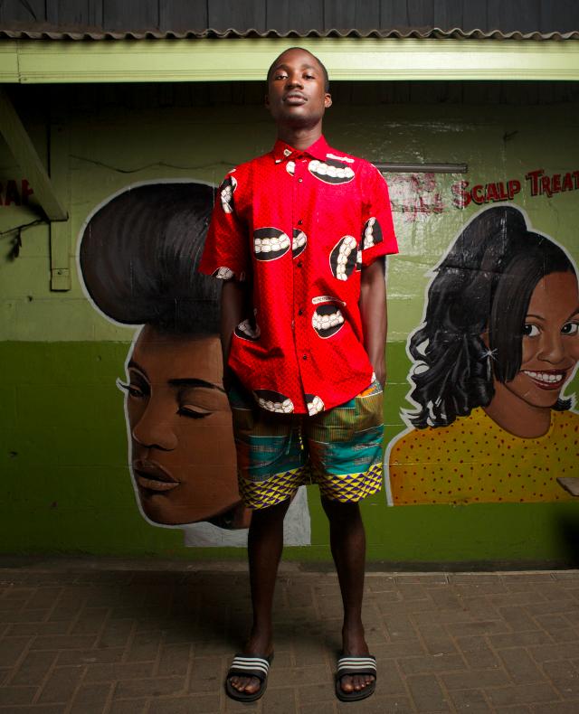 Yevu African Print Shirt Shorts