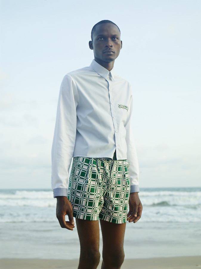 Laurence Airline African Fashion Menswear Print Shorts