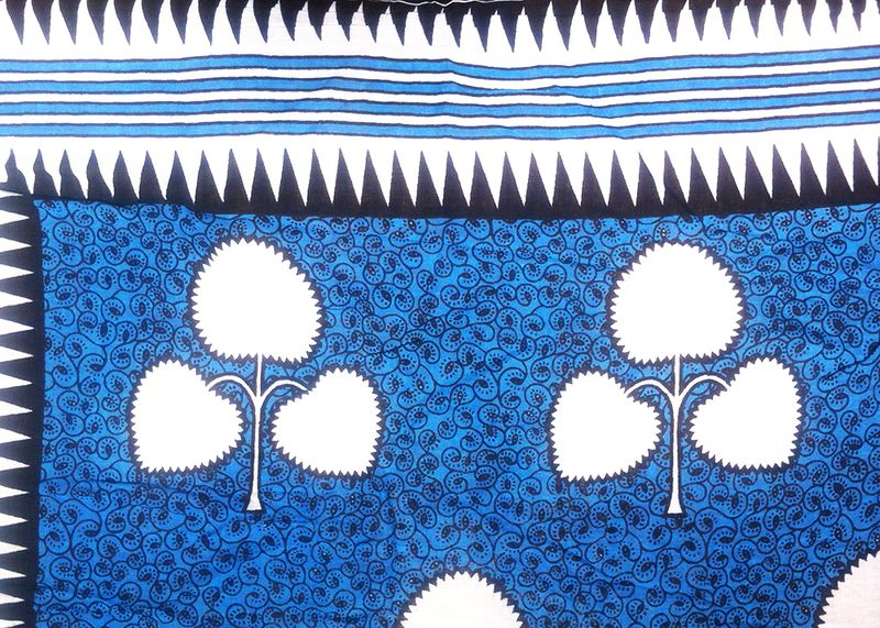 5-Kanga-Kitenge-Fabric-African-Textiles-Patterned-Blue