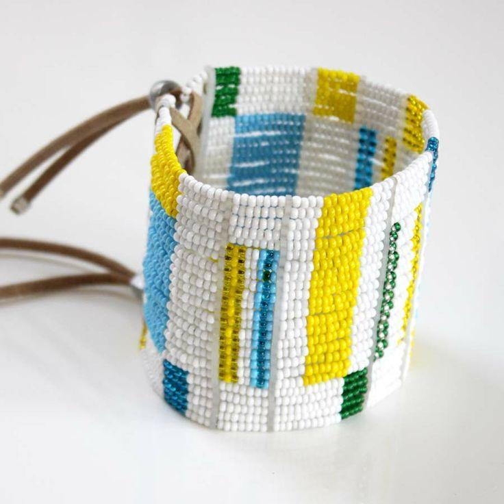 Sidai Designs Beaded Cuff Bracelet Maasai Inspired Jewellery