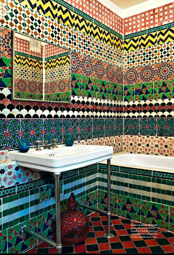 Moroccan Tiles Bathroom