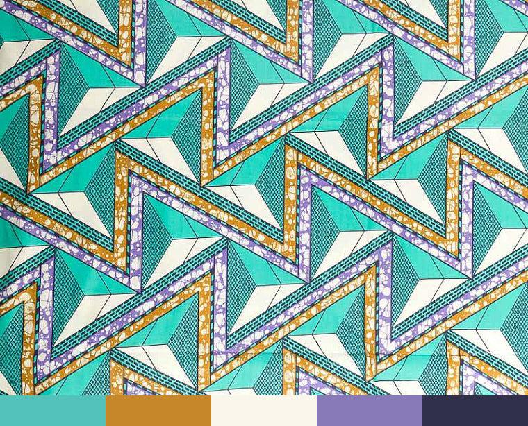 Colour-Palette-Ideas-Wax-Print-Turquoise-In-Technicolour-Zig-Zag-Pattern