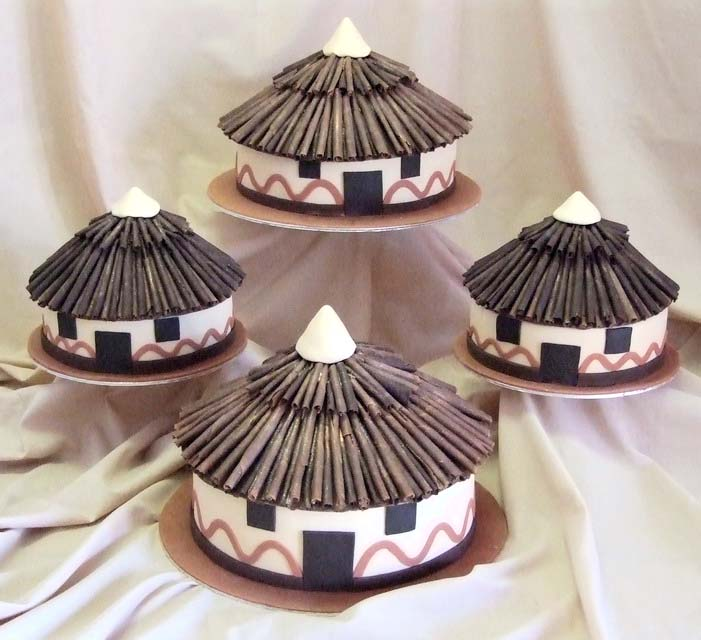 African Hut Cakes My Harusi