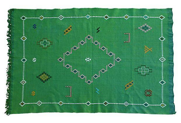 Moroccan Cactus Silk Rug
