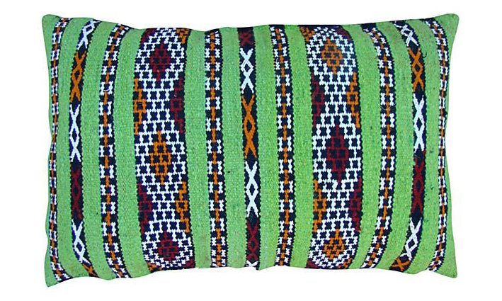 Moroccan Pillow Sham Lime Green