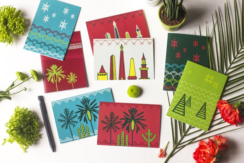 African Cities Greeting Cards Asilia