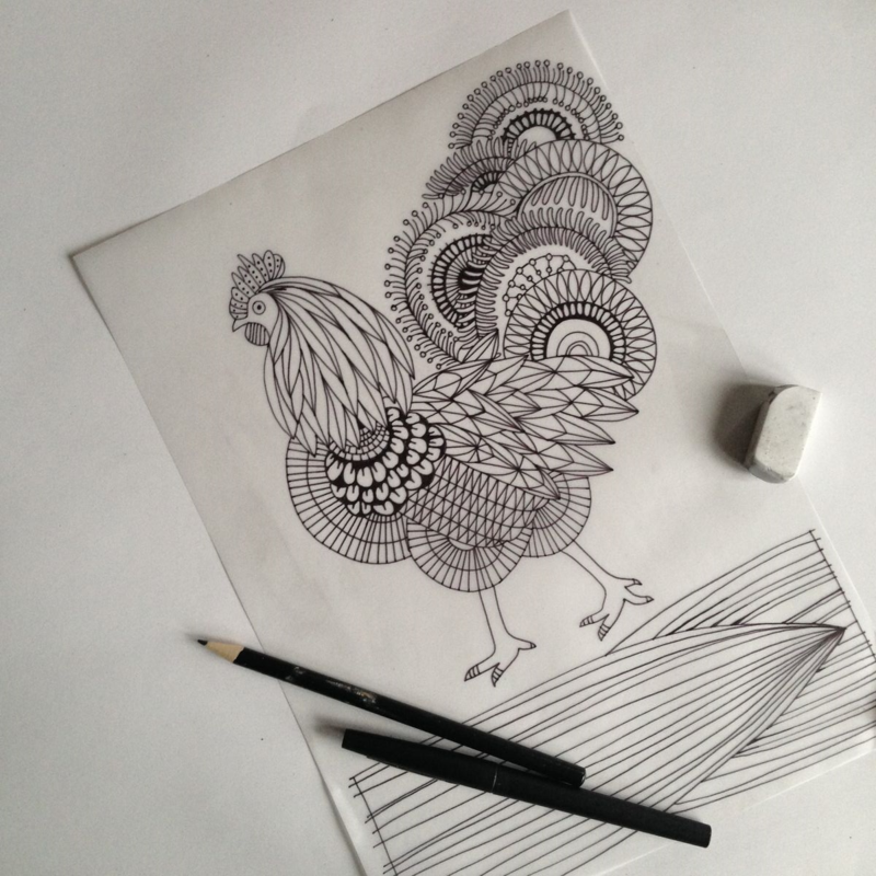 Chicken Plumage Rooster Cockerel Drawing Lulu Kitololo Asilia