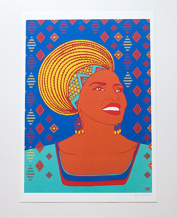 Miriam Makeba Illustration Portrait Art Print Lulu Kitololo