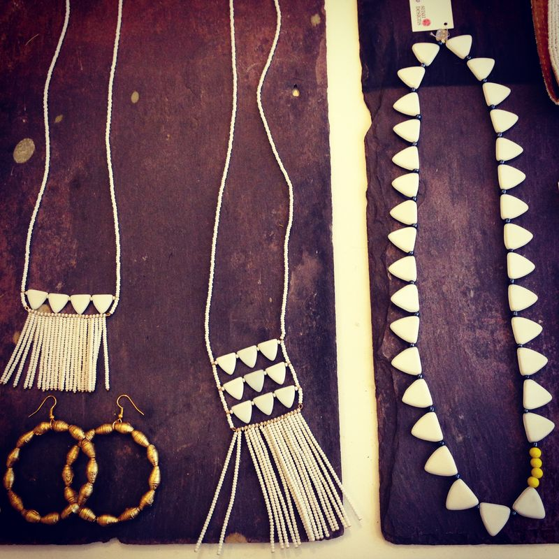 White Beaded Necklaces Sidai Designs African Fashion