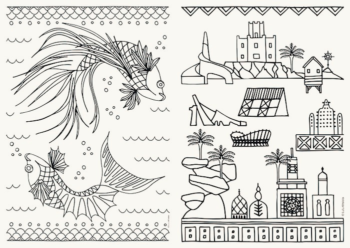 Colouring Sheets Lulu Kitololo Afri-love